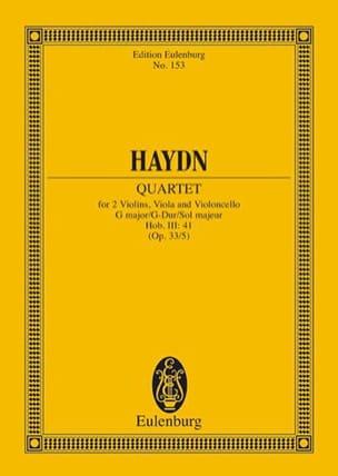Streich-Quartett G-Dur op. 33 n° 5 HAYDN Partition laflutedepan