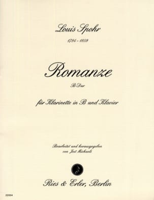 Louis Spohr - Romanze B-Dur - Klarinette Klavier - Sheet Music - di-arezzo.co.uk