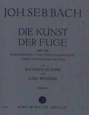 BACH - Die Kunst der Fuge –Streichquartett (o. Streichorch.) - Stimmen - Partition - di-arezzo.fr