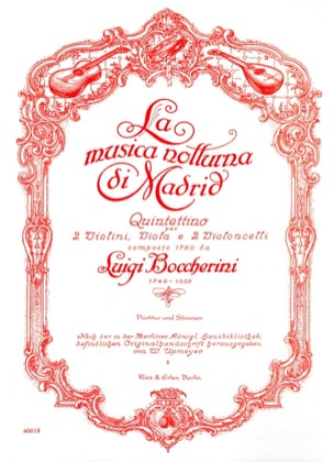 BOCCHERINI - The Musica Notturna Di Madrid - partitur Stimmen - Sheet Music - di-arezzo.co.uk