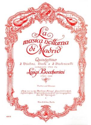 BOCCHERINI - La Musica Notturna Di Madrid -partitur + Stimmen - Partition - di-arezzo.fr
