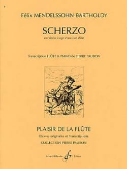 MENDELSSOHN - Scherzo extr. Dream of a summer night - Piano flute - Partition - di-arezzo.co.uk