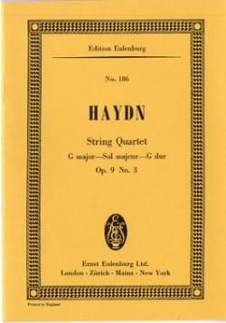 HAYDN - Streich-Quartett G-Dur op. 9 n° 3 - Partition - di-arezzo.fr