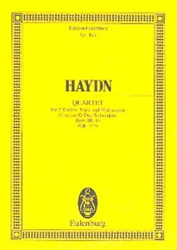 Joseph Haydn - Streich-Quartett G-Dur op. 3 n° 3 - Partition - di-arezzo.fr