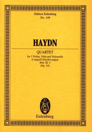 Joseph Haydn - Streich-Quartett G-Dur op. 1 n° 4 - Partition - di-arezzo.fr