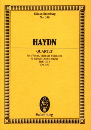 HAYDN - Streich-Quartett G-Dur op. 1 n° 4 - Partition - di-arezzo.fr