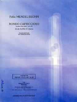 Rondo Capriccioso Op14 - MENDELSSOHN - Partition - laflutedepan.com