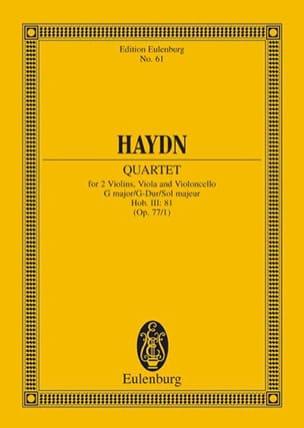 Joseph Haydn - Streich-Quartett G-Dur op. 77 n° 1 - Partition - di-arezzo.fr