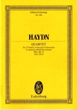 HAYDN - Streich-Quartett g-moll op. 20 n° 3 - Partition - di-arezzo.fr