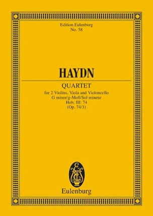 Streich-Quartett g-moll op. 74 n° 3 - HAYDN - laflutedepan.com