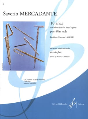 Saverio Mercadante - 10 Arias - Solo flute - Sheet Music - di-arezzo.com