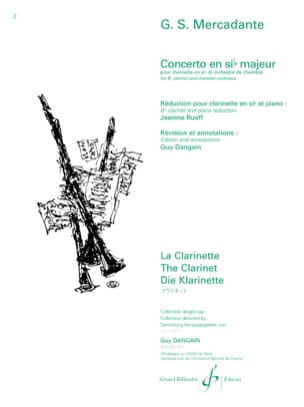 Saverio Mercadante - Concerto in Bb Major Op.101 - Sheet Music - di-arezzo.co.uk