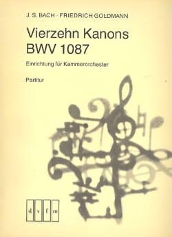 Bach Johann Sebastian / Goldmann Friedrich - 14 Kanons BWV 1087 - Kammerorchester - Conducteur - Partition - di-arezzo.fr