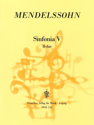 Sinfonia Nr. 5 B-Dur - Partitur - MENDELSSOHN - laflutedepan.com