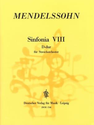 MENDELSSOHN - Sinfonia Nr. 8 D-Dur - Partitur - Partition - di-arezzo.fr