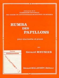 Rumba des papillons Gérard Meunier Partition Clarinette - laflutedepan