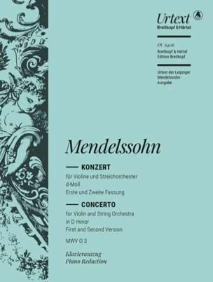 MENDELSSOHN - Violinkonzert d-moll - Partition - di-arezzo.fr