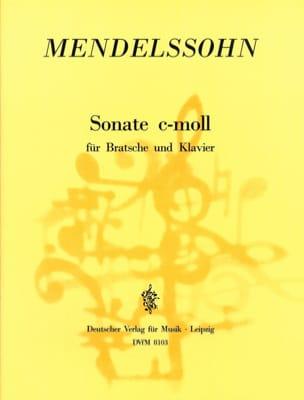 Sonate c-moll - Viola - MENDELSSOHN - Partition - laflutedepan.com