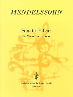 Sonate F-Dur - MENDELSSOHN - Partition - Violon - laflutedepan.com