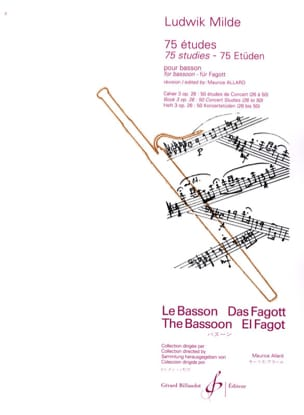 Ludwig Milde - 75 Etudes - volume 3 op. 26: 25 Concert Studies - Sheet Music - di-arezzo.co.uk
