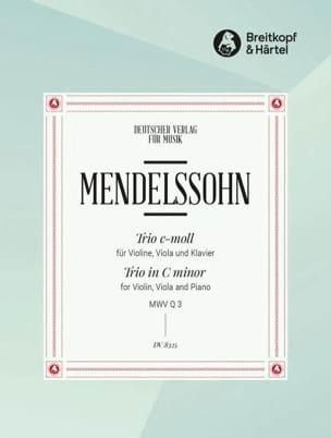Trio c-moll ohne Op. - MENDELSSOHN - Partition - laflutedepan.com