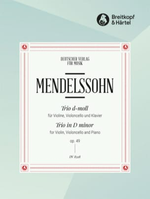 Bartholdy Felix Mendelssohn - Klaviertrio d-moll op. 49 - Partition - di-arezzo.fr