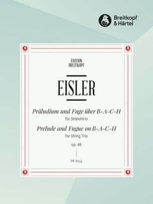 Hanns Eisler - Präludium und Fuge über BACH op. 46 - Partitur Stimmen - Sheet Music - di-arezzo.com