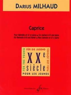 Caprice - Darius Milhaud - Partition - Clarinette - laflutedepan.com