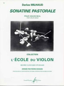 Sonatine pastorale - Darius Milhaud - Partition - laflutedepan.com