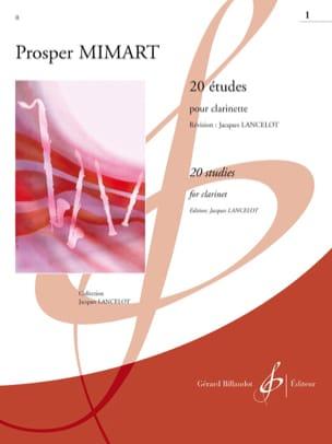 Mimart P. / Lancelot Jacques - 20 Etudes - vol 1 - Clarinette - Partition - di-arezzo.fr