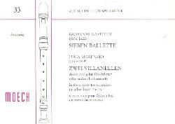 Sieben Ballette;Zwei Villanellen - laflutedepan.com