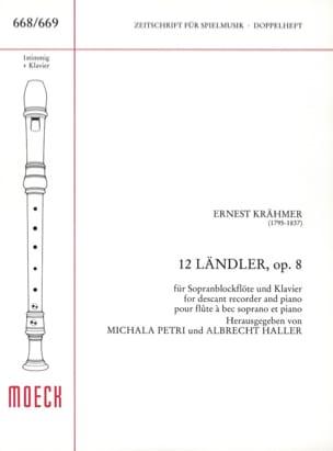 Ernest Krähmer - 12 Ländler - Partition - di-arezzo.fr