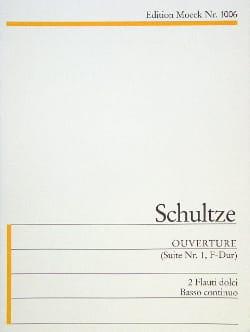 Johann Christoph Schultze - Ouverture F-Dur –2 flauti dolci e BC - Partition - di-arezzo.fr