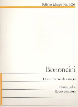 Giovanni Battista Bononcini - Divertimento da camera c-Moll - Partition - di-arezzo.fr