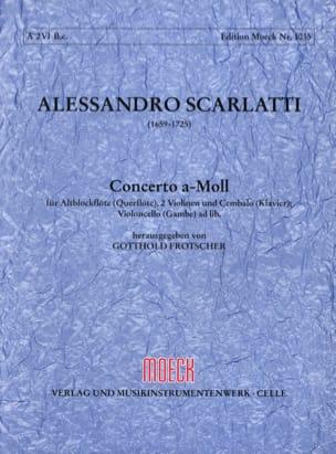 Alessandro Scarlatti - Concerto (a-moll) - Flauto dolce 2 violoni e bc - Partitur + Stimmen - Partition - di-arezzo.fr