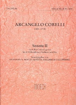 Sonata II G-Dur CORELLI Partition Trios - laflutedepan