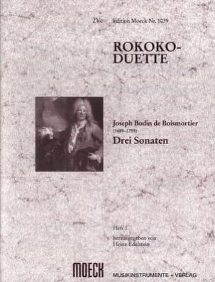 Joseph Bodin de Boismortier - Rokoko-Duette, Heft I : 3 Sonaten - Partition - di-arezzo.fr