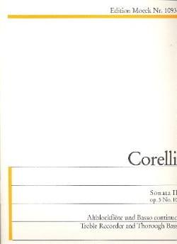Arcangelo Corelli - Sonata II G-Dur op. 5 n° 10 – Altblockflöte u. Bc - Partition - di-arezzo.fr