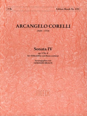 CORELLI - Sonata IV op. 5 n ° 8 - Partition - di-arezzo.co.uk