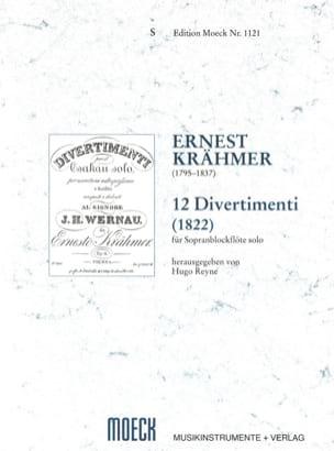 Ernest Krähmer - 12 Divertimenti (1822) - Partition - di-arezzo.fr