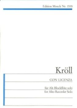 Georg Kröll - Licenza - 楽譜 - di-arezzo.jp