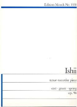 tenor-recorder piece op. 94 Maki Ishii Partition laflutedepan