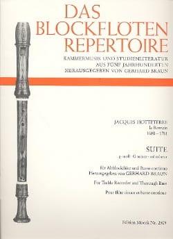 Jacques (Le Romain) Hotteterre - Suite G-Moll Sol Min. - Flute A Beak Alto and Bc - Sheet Music - di-arezzo.com