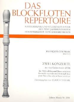 Zwei Konzerte aus Les Goûts réunis1724 COUPERIN Partition laflutedepan