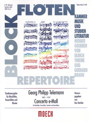 Concerto e-moll - Blockflöte Traversflöte Klavier laflutedepan