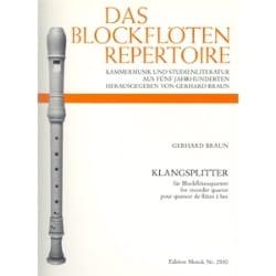 Klangsplitter - quatuor flûtes àbec - Gerhard Braun - laflutedepan.com