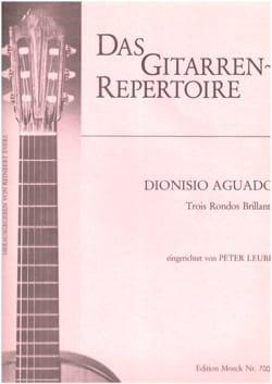 Dionisio Aguado - Trois Rondos Brillants - Partition - di-arezzo.fr