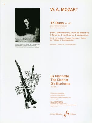 MOZART - 12 Duos KV 487 for 2 wind instruments - Sheet Music - di-arezzo.co.uk