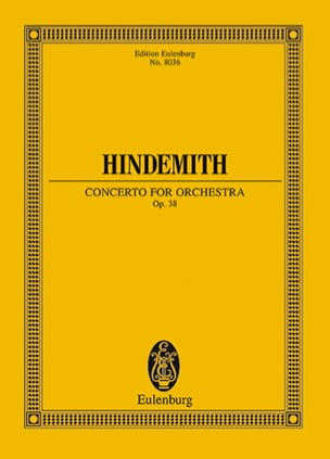 Paul Hindemith - Concerto for orchestra, op. 38 - Partition - di-arezzo.fr