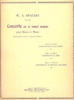 Concerto pour basson en sib majeur op. 96 - MOZART - laflutedepan.com